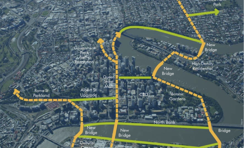 LNP & RACQ Pushes Extra River Crossings, Possible St Lucia Bridge to West End Highly Favoured